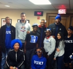 Students with Duke Athletes
